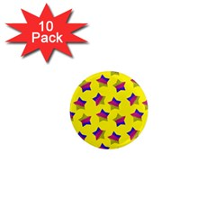 Ombre Glitter  Star Pattern 1  Mini Magnet (10 Pack)