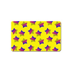Ombre Glitter  Star Pattern Magnet (name Card)
