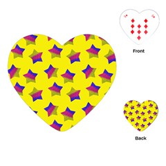 Ombre Glitter  Star Pattern Playing Cards (heart) by snowwhitegirl