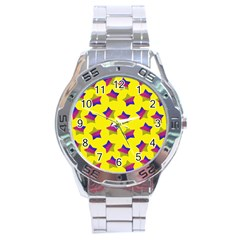 Ombre Glitter  Star Pattern Stainless Steel Analogue Watch by snowwhitegirl