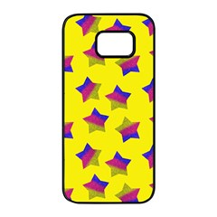 Ombre Glitter  Star Pattern Samsung Galaxy S7 Edge Black Seamless Case