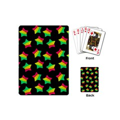 Ombre Glitter Pink Green Star Pat Playing Cards (mini)