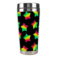 Ombre Glitter Pink Green Star Pat Stainless Steel Travel Tumblers