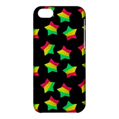 Ombre Glitter Pink Green Star Pat Apple Iphone 5c Hardshell Case