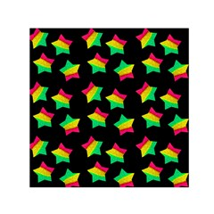 Ombre Glitter Pink Green Star Pat Small Satin Scarf (square)