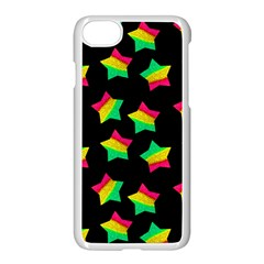 Ombre Glitter Pink Green Star Pat Apple Iphone 8 Seamless Case (white) by snowwhitegirl