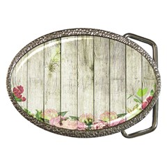Floral Wood Wall Belt Buckles