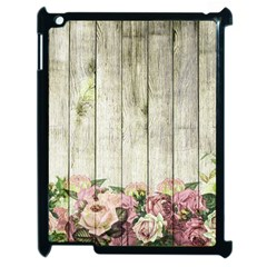 Floral Wood Wall Apple Ipad 2 Case (black)