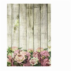 Floral Wood Wall Large Garden Flag (two Sides)
