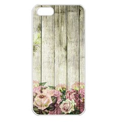 Floral Wood Wall Apple Iphone 5 Seamless Case (white)