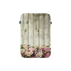 Floral Wood Wall Apple Ipad Mini Protective Soft Cases