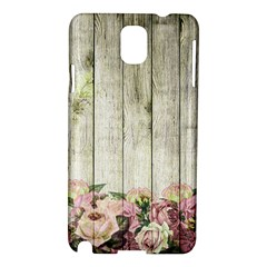 Floral Wood Wall Samsung Galaxy Note 3 N9005 Hardshell Case
