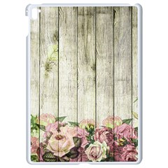 Floral Wood Wall Apple Ipad Pro 9 7   White Seamless Case