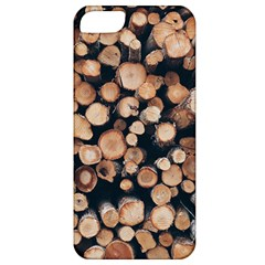 Wood Stick Piles Apple Iphone 5 Classic Hardshell Case