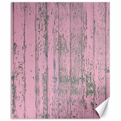 Old Pink Wood Wall Canvas 20  X 24