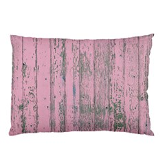 Old Pink Wood Wall Pillow Case by snowwhitegirl