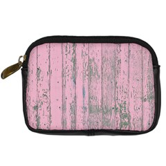 Old Pink Wood Wall Digital Camera Leather Case