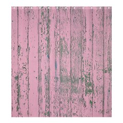 Old Pink Wood Wall Shower Curtain 66  X 72  (large)