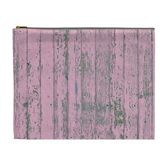 Old Pink Wood Wall Cosmetic Bag (xl)