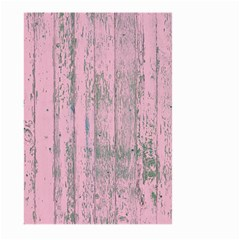 Old Pink Wood Wall Large Garden Flag (two Sides)