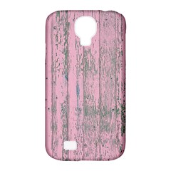 Old Pink Wood Wall Samsung Galaxy S4 Classic Hardshell Case (pc+silicone) by snowwhitegirl