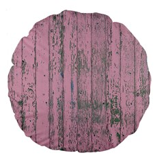 Old Pink Wood Wall Large 18  Premium Flano Round Cushions