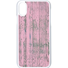 Old Pink Wood Wall Apple Iphone X Seamless Case (white)