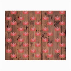 Zen Lotus Wood Wall Small Glasses Cloth