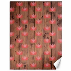 Zen Lotus Wood Wall Canvas 36  X 48