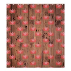 Zen Lotus Wood Wall Shower Curtain 66  X 72  (large)