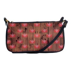 Zen Lotus Wood Wall Shoulder Clutch Bag