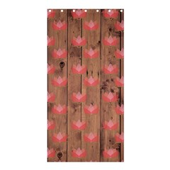 Zen Lotus Wood Wall Shower Curtain 36  X 72  (stall)