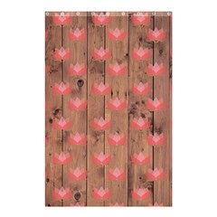 Zen Lotus Wood Wall Shower Curtain 48  X 72  (small)