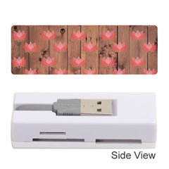Zen Lotus Wood Wall Memory Card Reader (stick)