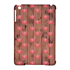 Zen Lotus Wood Wall Apple Ipad Mini Hardshell Case (compatible With Smart Cover)