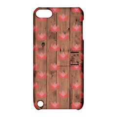 Zen Lotus Wood Wall Apple Ipod Touch 5 Hardshell Case With Stand