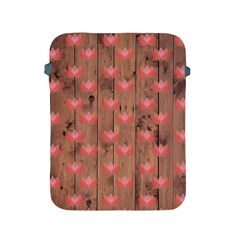 Zen Lotus Wood Wall Apple Ipad 2/3/4 Protective Soft Cases