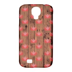 Zen Lotus Wood Wall Samsung Galaxy S4 Classic Hardshell Case (pc+silicone) by snowwhitegirl