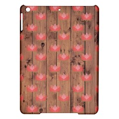 Zen Lotus Wood Wall Ipad Air Hardshell Cases