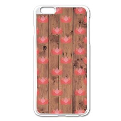 Zen Lotus Wood Wall Apple Iphone 6 Plus/6s Plus Enamel White Case