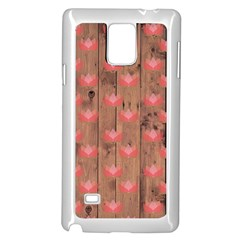 Zen Lotus Wood Wall Samsung Galaxy Note 4 Case (white)