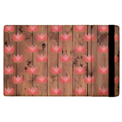 Zen Lotus Wood Wall Apple Ipad Pro 12 9   Flip Case