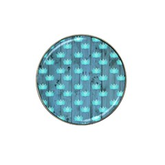 Zen Lotus Wood Wall Blue Hat Clip Ball Marker (4 Pack)