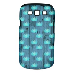 Zen Lotus Wood Wall Blue Samsung Galaxy S Iii Classic Hardshell Case (pc+silicone)