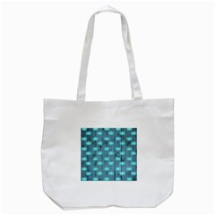 Zen Lotus Wood Wall Blue Tote Bag (white)