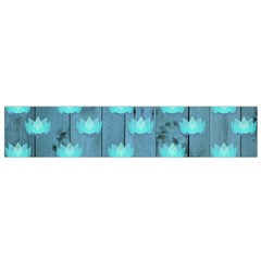 Zen Lotus Wood Wall Blue Small Flano Scarf