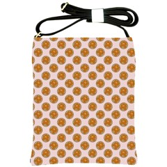 Waffle Polka Dot Pattern Shoulder Sling Bag