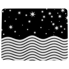 Black And White Waves And Stars Abstract Backdrop Clipart Jigsaw Puzzle Photo Stand (rectangular)