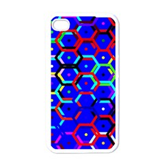 Blue Bee Hive Pattern Apple Iphone 4 Case (white)