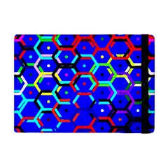 Blue Bee Hive Pattern Apple Ipad Mini Flip Case by Jojostore